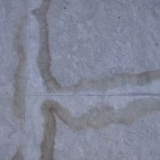 Marks around the grout lines