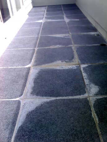 before efflorescence removal