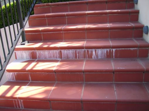 stairs with Efflorescence