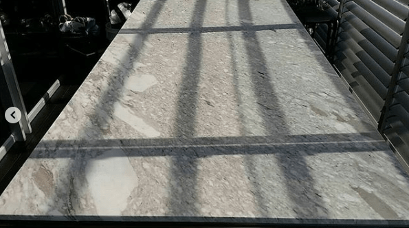 kitchen benchtop marble restoration