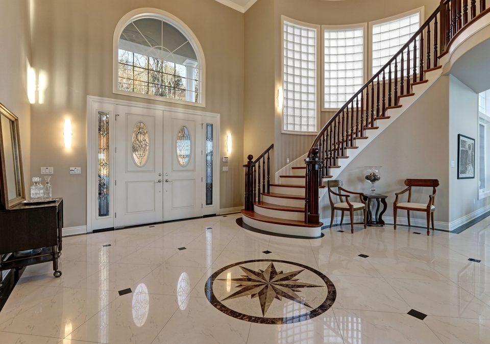 Marble Floor Restoration 3 Steps foyer