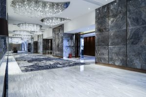 Process Restore Faded Marble hotel lobby