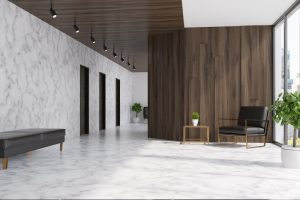 Pros And Cons Marble Flooring office lobby